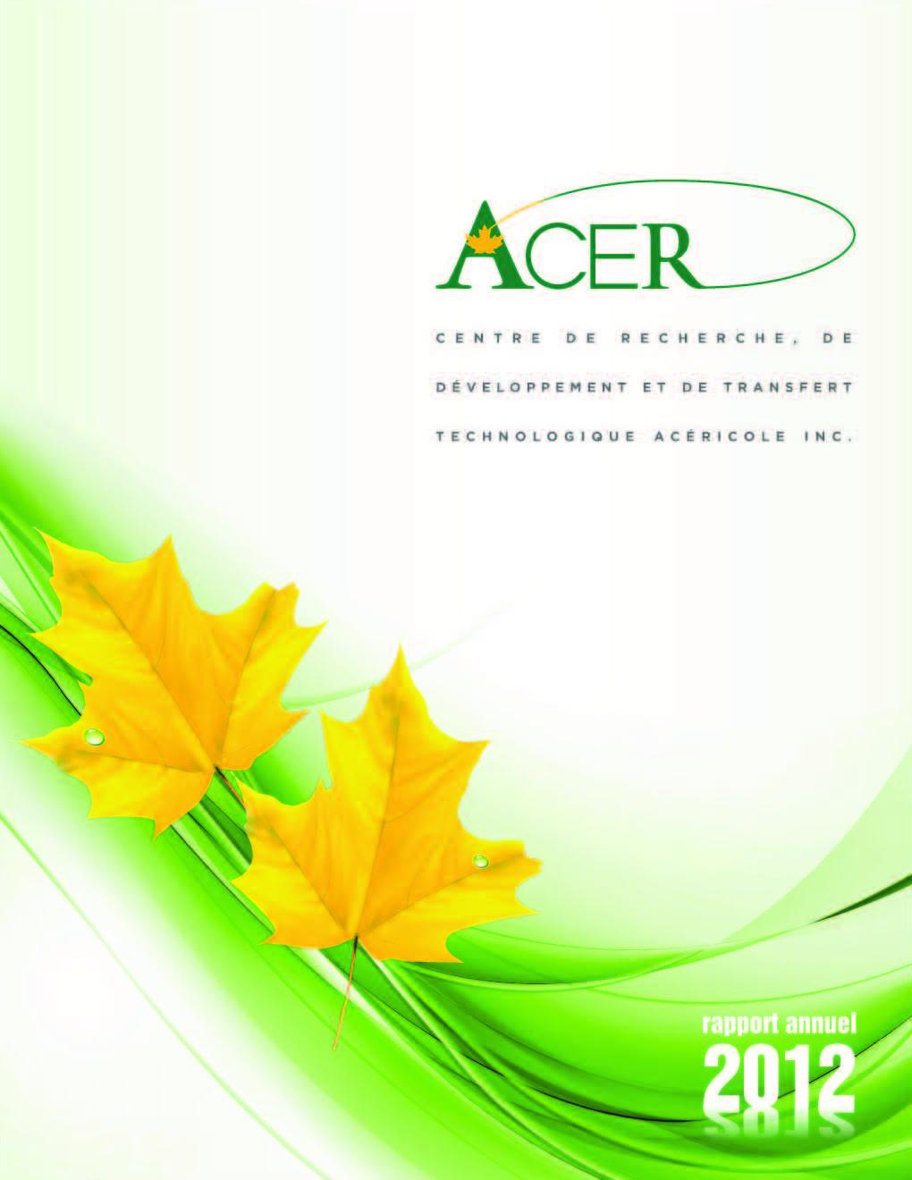 Mise en ligne du rapport annuel 2012