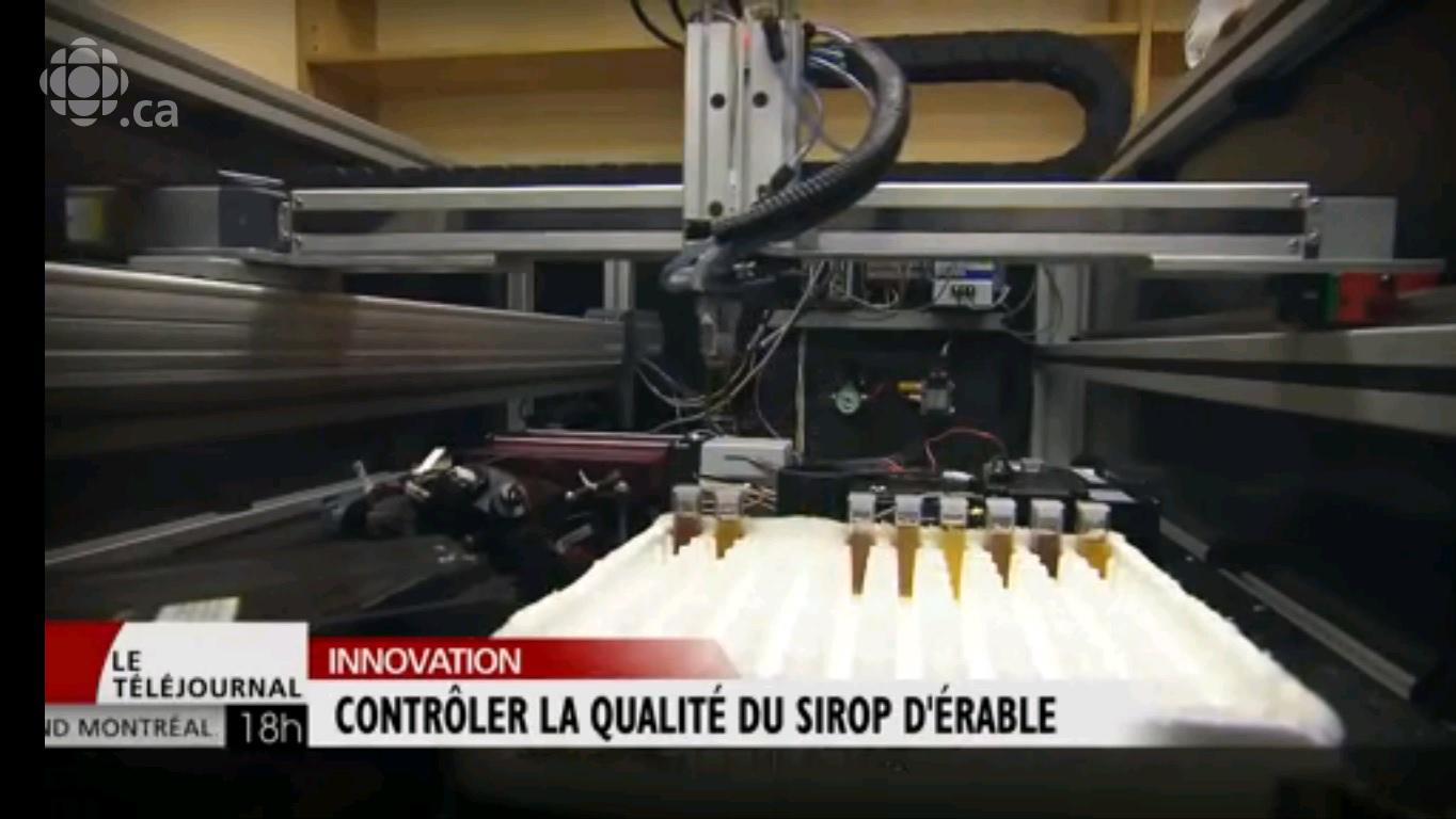 Reportage de Radio-Canada sur le SpectrAcer : une innovation permettant d'améliorer la classification du sirop d'érable